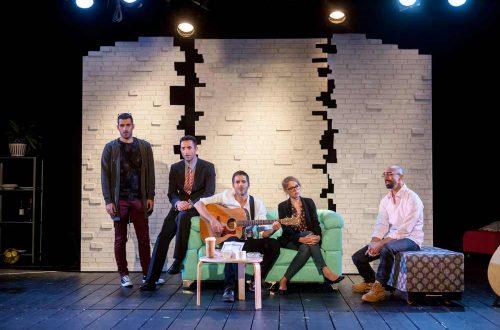 לשיר זה כמו להיות... (דיויד בילנקה, מירב פלדמן, דן שפירא, ערן מור, גיל כהן - צילום: ז'ראר אלון)